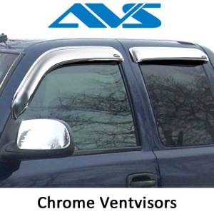 Exterior Accessories - Vent Visors / Rainguards - AVS - AVS Chrome Ventvisor Window Vents