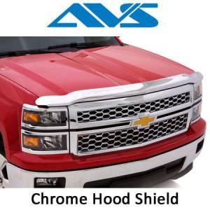 Exterior Accessories - Hood Shields - AVS - AVS Chrome Hood Shields