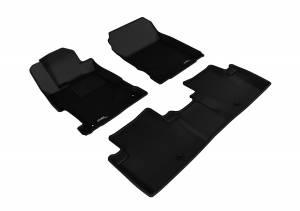 Floor Mats / Liners - Floor Liners - 3D MAXpider - 3D MAXpider ACURA ILX 2013-2020 KAGU BLACK R1 R2