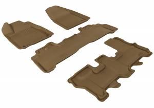 Floor Mats / Liners - Floor Liners - 3D MAXpider - 3D MAXpider ACURA MDX 2007-2013 KAGU TAN R1 R2 R3