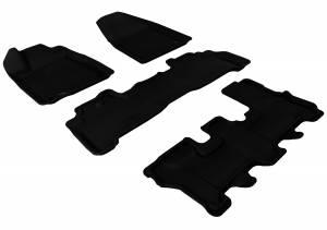Floor Mats / Liners - Floor Liners - 3D MAXpider - 3D MAXpider ACURA MDX 2007-2013 KAGU BLACK R1 R2 R3