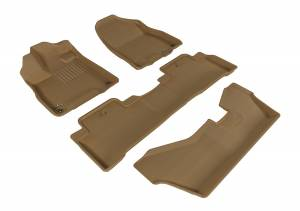 Floor Mats / Liners - Floor Liners - 3D MAXpider - 3D MAXpider ACURA MDX WITH BENCH 2ND ROW 2014-2020 KAGU TAN R1 R2 R3