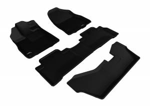 Floor Mats / Liners - Floor Liners - 3D MAXpider - 3D MAXpider ACURA MDX WITH BENCH 2ND ROW 2014-2020 KAGU BLACK R1 R2 R3