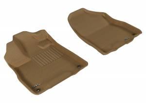 Floor Mats / Liners - Floor Liners - 3D MAXpider - 3D MAXpider ACURA MDX 2014-2020 KAGU TAN R1