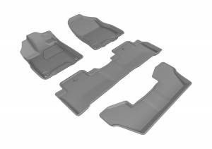 Floor Mats / Liners - Floor Liners - 3D MAXpider - 3D MAXpider ACURA MDX WITH BUCKET 2ND ROW 2017-2020 KAGU GRAY R1 R2 R3