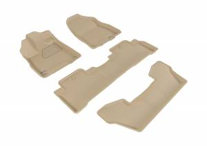 Floor Mats / Liners - Floor Liners - 3D MAXpider - 3D MAXpider ACURA MDX WITH BUCKET 2ND ROW 2017-2020 KAGU TAN R1 R2 R3