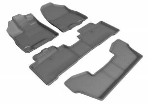 Floor Mats / Liners - Floor Liners - 3D MAXpider - 3D MAXpider ACURA MDX SPORT HYBRID WITH BUCKET 2ND ROW 2017-2020 KAGU GRAY R1 R2 R3