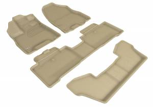 Floor Mats / Liners - Floor Liners - 3D MAXpider - 3D MAXpider ACURA MDX SPORT HYBRID WITH BUCKET 2ND ROW 2017-2020 KAGU TAN R1 R2 R3