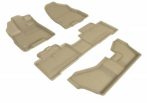 Floor Mats / Liners - Floor Liners - 3D MAXpider - 3D MAXpider ACURA MDX SPORT HYBRID WITH BENCH 2ND ROW 2017-2020 KAGU TAN R1 R2 R3