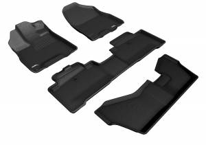 Floor Mats / Liners - Floor Liners - 3D MAXpider - 3D MAXpider ACURA MDX SPORT HYBRID WITH BENCH 2ND ROW 2017-2020 KAGU BLACK R1 R2 R3