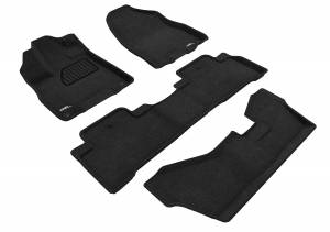 Floor Mats / Liners - Floor Mats - All Weather - 3D MAXpider - 3D MAXpider ACURA MDX WITH BENCH 2ND ROW 2014-2020 ELEGANT BLACK R1 R2 R3