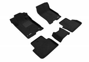 Floor Mats / Liners - Floor Mats - All Weather - 3D MAXpider - 3D MAXpider ACURA TLX FWD 2015-2020 ELEGANT BLACK R1 R2