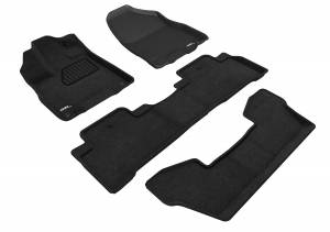 Floor Mats / Liners - Floor Mats - All Weather - 3D MAXpider - 3D MAXpider ACURA MDX WITH BUCKET 2ND ROW 2017-2020 ELEGANT BLACK R1 R2 R3