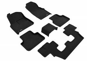 Floor Mats / Liners - Floor Mats - All Weather - 3D MAXpider - 3D MAXpider AUDI Q7 2017-2019 ELEGANT BLACK R1 R2 R3