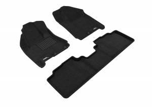 Floor Mats / Liners - Floor Mats - All Weather - 3D MAXpider - 3D MAXpider CADILLAC SRX 2010-2016 ELEGANT BLACK R1 R2