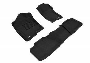 Floor Mats / Liners - Floor Mats - All Weather - 3D MAXpider - 3D MAXpider CHEVROLET TAHOE WITH BENCH 2ND ROW 2007-2014 ELEGANT BLACK R1 R2