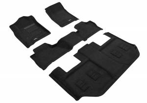 Floor Mats / Liners - Floor Mats - All Weather - 3D MAXpider - 3D MAXpider CHEVROLET SUBURBAN WITH BUCKET 2ND ROW 2015-2020 ELEGANT BLACK R1 R2 R3
