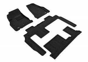 Floor Mats / Liners - Floor Mats - All Weather - 3D MAXpider - 3D MAXpider CHEVROLET TRAVERSE WITH BENCH 2ND ROW 2009-2017 ELEGANT BLACK R1 R2 R3