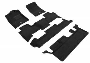 Floor Mats / Liners - Floor Mats - All Weather - 3D MAXpider - 3D MAXpider CHEVROLET TAHOE WITH BENCH 2ND ROW 2015-2020 ELEGANT BLACK R1 R2 R3