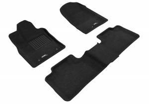 Floor Mats / Liners - Floor Mats - All Weather - 3D MAXpider - 3D MAXpider DODGE DURANGO 5-SEAT 2012-2020 ELEGANT BLACK R1 R2 (2 POSTS ON FRONT PASSENGER'S FLOOR)