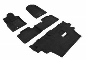 Floor Mats / Liners - Floor Mats - All Weather - 3D MAXpider - 3D MAXpider DODGE DURANGO 7-SEAT 2012-2020 ELEGANT BLACK R1 R2 R3 (2 POSTS ON FRONT PASSENGER'S FLOOR)