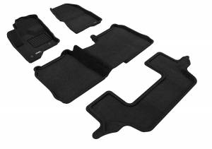 Floor Mats / Liners - Floor Mats - All Weather - 3D MAXpider - 3D MAXpider FORD FLEX 2009-2019 W/O 2ND ROW CENTER CONSOLE ELEGANT BLACK R1 R2 R3 (2 EYELETS)