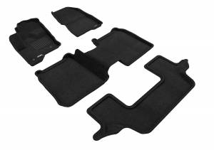 Floor Mats / Liners - Floor Mats - All Weather - 3D MAXpider - 3D MAXpider FORD FLEX 2009-2019 WITH 2ND ROW CENTER CONSOLE ELEGANT BLACK R1 R2 R3 (2 EYELETS)..
