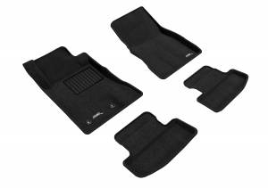 Floor Mats / Liners - Floor Mats - All Weather - 3D MAXpider - 3D MAXpider FORD MUSTANG 2015-2020 ELEGANT BLACK R1 R2 (2 EYELETS)