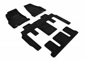 Floor Mats / Liners - Floor Mats - All Weather - 3D MAXpider - 3D MAXpider GMC ACADIA 2007-2016/ GMC ACADIA LIMITED 2017 ELEGANT BLACK R1 R2 R3 BUCKET SEATS