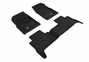 Floor Mats / Liners - Floor Mats - All Weather - 3D MAXpider - 3D MAXpider GMC CANYON CREW CAB 2015-2020 ELEGANT BLACK R1 R2