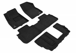 Floor Mats / Liners - Floor Mats - All Weather - 3D MAXpider - 3D MAXpider GMC ACADIA WITH BENCH 2ND ROW 2017-2020 ELEGANT BLACK R1 R2 R3