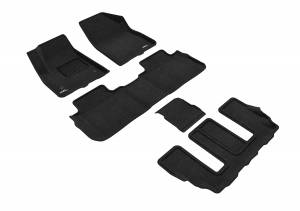 Floor Mats / Liners - Floor Mats - All Weather - 3D MAXpider - 3D MAXpider GMC ACADIA WITH BUCKET 2ND ROW 2017-2020 ELEGANT BLACK R1 R2 R3