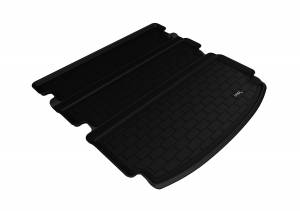 Cargo Liners/Mats - Cargo Liner (floor liner with side lips) - 3D MAXpider - 3D MAXpider L1AC00312202 ACURA MDX 2014-2020 KAGU BLACK BEHIND 2ND ROW STOWABLE CARGO LINER