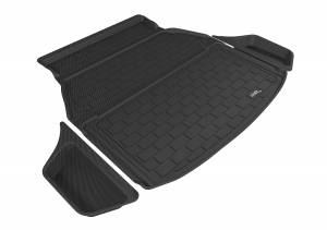 Cargo Liners/Mats - Cargo Liner (floor liner with side lips) - 3D MAXpider - 3D MAXpider L1AC00622202 ACURA TLX 2015-2020 KAGU BLACK STOWABLE CARGO LINER (3PCS)