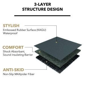 3D MAXpider - 3D MAXpider L1AD00601502 AUDI A3 2006-2013 KAGU BLACK STOWABLE CARGO LINER - Image 5