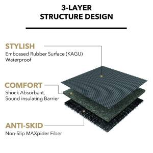3D MAXpider - 3D MAXpider L1AD00901501 AUDI A6 SEDAN 2012-2018/ S6 SEDAN 2013-2018 KAGU TAN STOWABLE CARGO LINER - Image 5