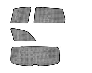 Interior Accessories - Sun Shades - 3D MAXpider - 3D MAXpider AUDI Q7 2007-2015 SOLTECT SUNSHADE SIDE & REAR WINDOW