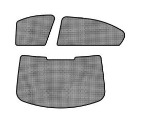 Interior Accessories - Sun Shades - 3D MAXpider - 3D MAXpider BMW 3 SERIES (E90) SEDAN 2006-2011 SOLTECT SUNSHADE SIDE & REAR WINDOW