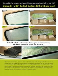 3D MAXpider - 3D MAXpider FORD FOCUS HATCHBACK/SEDAN 2011-2017 SOLTECT SUNSHADE SIDE WINDOWS ONLY - Image 5