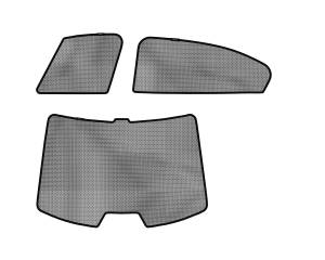 Interior Accessories - Sun Shades - 3D MAXpider - 3D MAXpider HONDA ACCORD SEDAN 2008-2012 SOLTECT SUNSHADE SIDE & REAR WINDOW