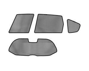 Interior Accessories - Sun Shades - 3D MAXpider - 3D MAXpider HONDA FIT 2009-2013 SOLTECT SUNSHADE SIDE & REAR WINDOW