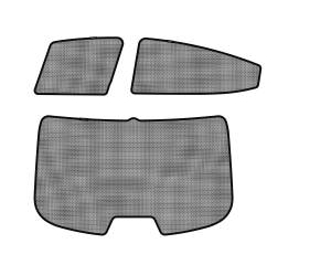Interior Accessories - Sun Shades - 3D MAXpider - 3D MAXpider HYUNDAI ELANTRA SEDAN 2011-2016 SOLTECT SUNSHADE SIDE & REAR WINDOW