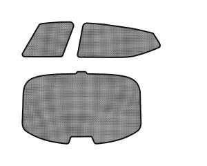 Interior Accessories - Sun Shades - 3D MAXpider - 3D MAXpider KIA OPTIMA 2011-2015 SOLTECT SUNSHADE SIDE & REAR WINDOW