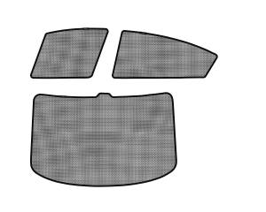 Interior Accessories - Sun Shades - 3D MAXpider - 3D MAXpider L1MN01501501 MAZDA MAZDA3 SEDAN 2010-2013 SOLTECT SUNSHADE SIDE & REAR WINDOW