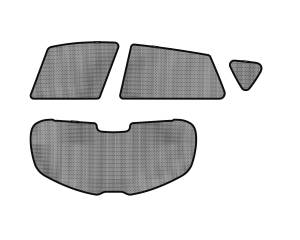 Interior Accessories - Sun Shades - 3D MAXpider - 3D MAXpider L1MN01701509 MAZDA MAZDA3 HATCHBACK 2010-2013 SOLTECT SUNSHADE SIDE & REAR WINDOW