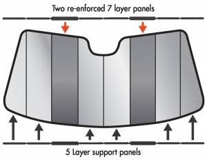 Intro-Tech Automotive - Intro-Tech Acura RL (09-13) Premier Folding Sun Shade AC-21 - Image 2