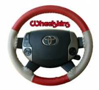 Wheelskins - EuroTone 2 Color Wheelskins Genuine Leather Steering Wheel Cover - 15 colors - size 13 3/4 X 3 3/4