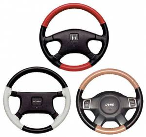 Wheelskins - EuroTone 2 Color Wheelskins Genuine Leather Steering Wheel Cover - 15 colors - size 13 3/4 X 3 9/16